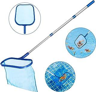Tencoz Recogehojas para Piscinas- Pool Net Leaf Skimmer- Red para Piscinas con Poste de Aluminio de 1-2 m Recogehojas Piscina- Limpia Piscinas Red (2)