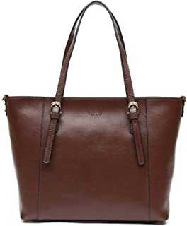 Simple and Leisure Style Leather Work Tote Shoulder Bag