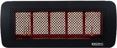 Bromic Heating Tungsten 500 Smart-Heat Gas 5 Burner Radiant Infrared Patio Heater, Natural Gas, 43000 BTU