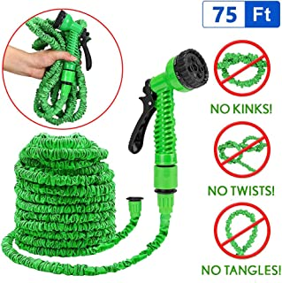Speedy Panther 75ft Expandable Garden Hose for Garden Watering Multi-Function Flexible Water Hose Pipe Kit with 7-in-1 Spray Gun Nozzle (75FT (22.5m))