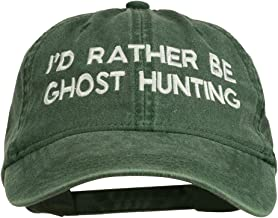 e4Hats.com I'd Rather Be Ghost Hunting Embroidered Washed Cap