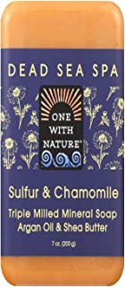 One With Nature Bar Soap, Chamomile and Sulfur, 7 Ounce