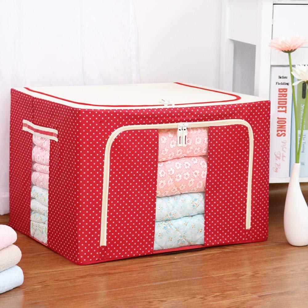 Zipvb Cajas de almacenaje Cajas y arcones de almacenaje 80 litros Oxford Tela Acero Caja de Almacenamiento Ropa edredón Caja de Almacenamiento Grande Caja de Almacenamiento @G: Amazon.es: Hogar
