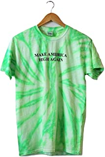 Make America High Again Neon Mint Green Tie-Dye Graphic Unisex Tee