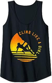 Womens Climb Like A Girl - Rock Climbing Bouldering Gift Tank Top