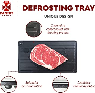 Rapid Defrosting Tray to Defrost Thaw Frozen Meat and Food, Fast Thawing Large Magic Miracle Plate Mat Board and Dishwasher Safe