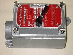 1- APPLETON,EDS-F22-Q 2 POLE, 20 AMP EXPLOSION PROOF SWITCH 120/277V W/ EDS371 BACK BOX, 1 INCH HUB, 1 GANG, Lab22 Sealed Lab Switch
