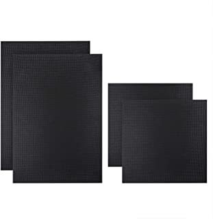 Caydo 4 Pieces 14 Count Classic Reserve Aida Cloth Cross Stitch Cloth, 2 Pieces 12 by 18 Inch and 2 Pieces 12 by 12 Inch, Black