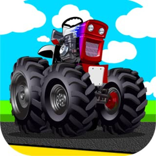 Free tractor pulling games activity app for little kids