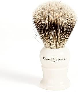 Edwin Jagger Super Badger Shave Brush, Medium Handle