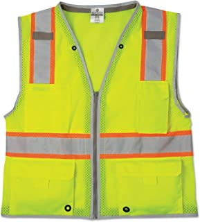 ML Kishigo 1510 Ultra-Cool Polyester Brilliant Series Heavy Duty Vest, Extra Large, Lime