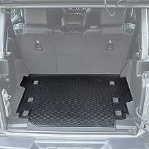 E-cowlboy Trunk Cargo Liner Mat Tray for Jeep Wrangler JL 2018~2020 Heavy Duty Rubber Custom Fit - All Seasons Odorless Unlimited 4-Door (Black)
