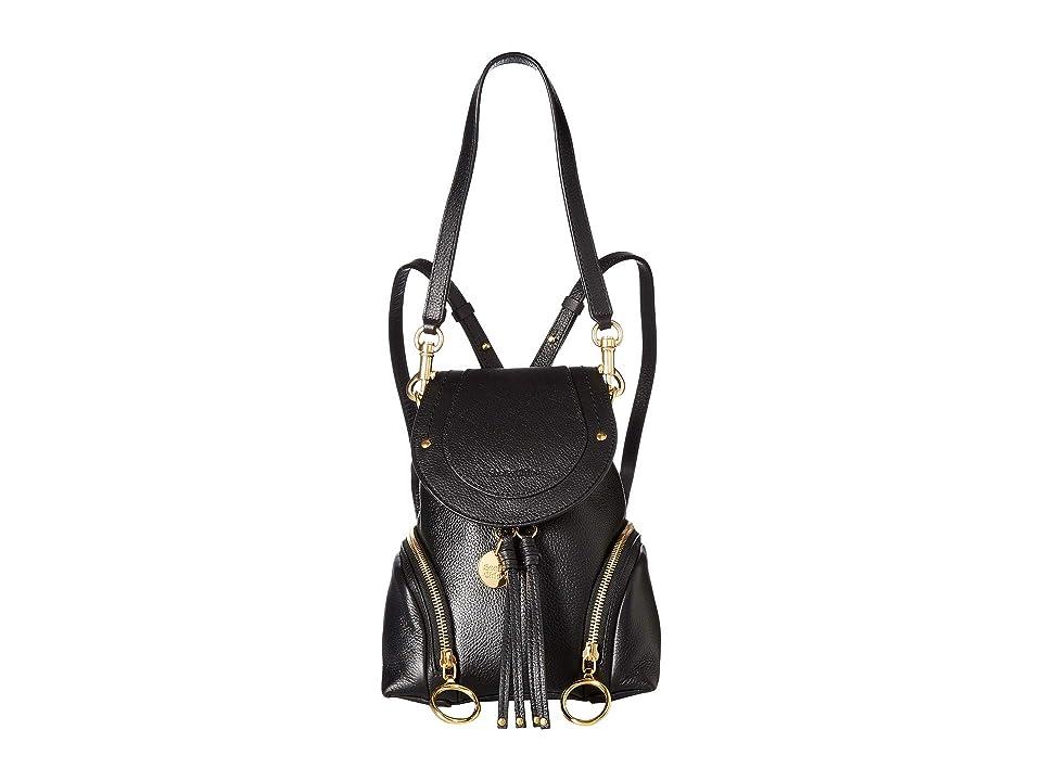 See by Chloe Olga Small Backpack (Black) Backpack Bags