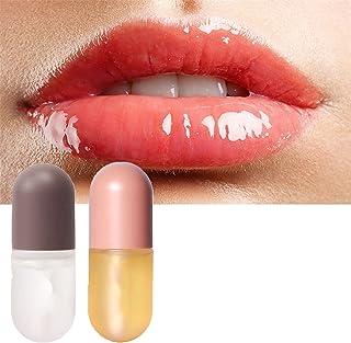 JXWYHH Lip Plumper Set, Natural Lip Enhancer & Lip Care Serum, Day & Night Moisturizing Repair Lip Gloss Set, Lip Enhancem...
