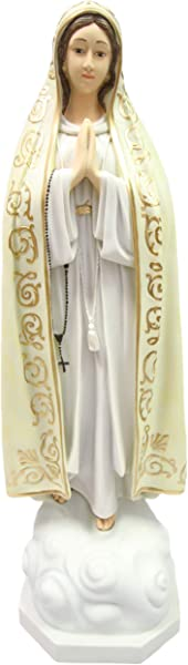 Vittoria Collection 32 Inch Our Lady Of Fatima Virgin Mary Italian Statue Sculpture Made In Italy Indoor Outdoor