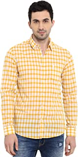 Mufti Men's Checkered Slim Fit Casual Shirt (MFS-9547-H-WH_Multicolor_L)