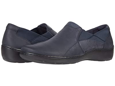 Clarks Cora Lilac (Navy Leather/Textile Combination) Women