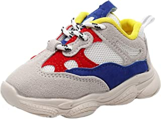 HONGTEYA Baby Boys Girls Sneakers - Lightweight Casual Running Shoes Mesh Sport Shoes for Toddler Kids