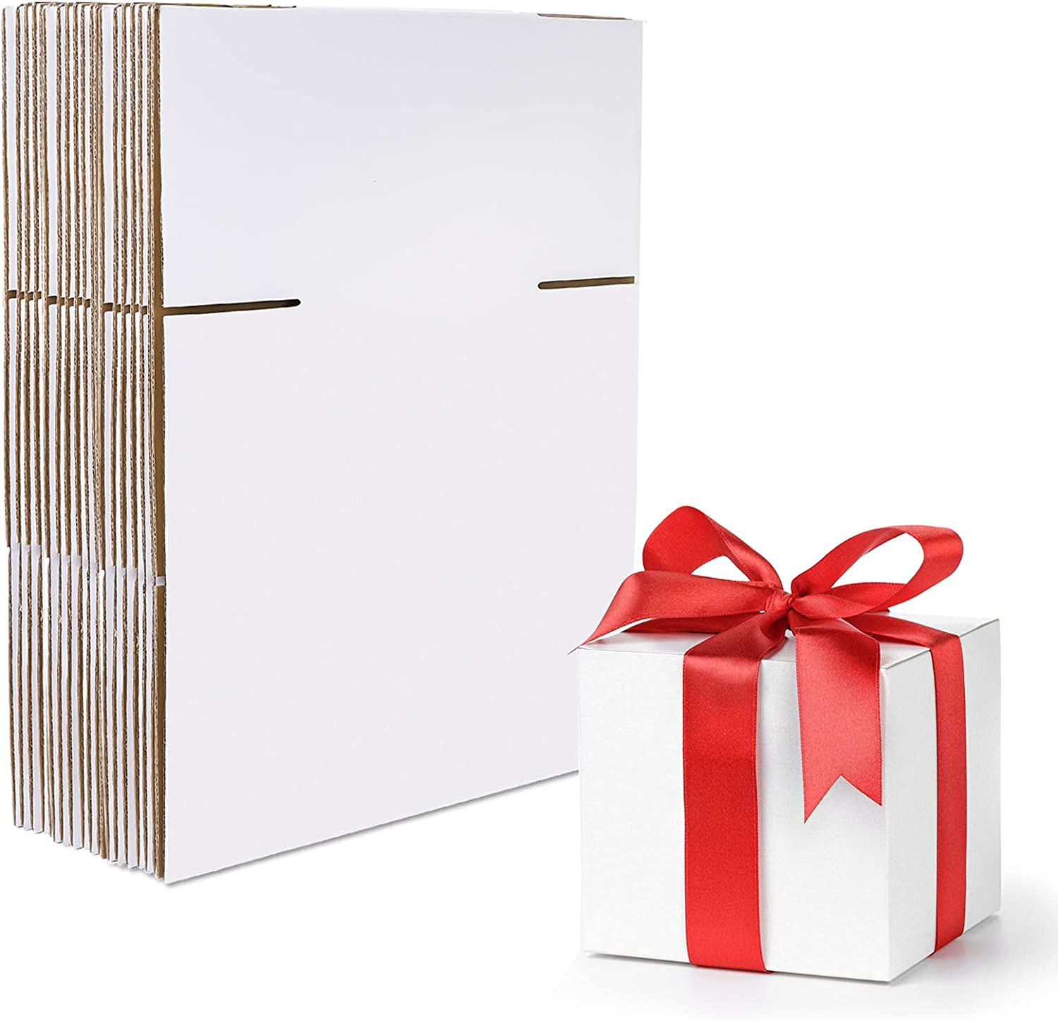 HANTAJANSS 4x4x4 Inches Ranking integrated 1st place Shipping Minneapolis Mall Box of Set Corrugated 25 White