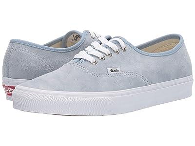 Vans Authentictm ((Pig Suede) Blue Fog/True White) Skate Shoes