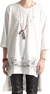 (バレッタ) Valletta 日本製 裾バンダナ柄切替デザイン ロング丈7分袖カットソー メンズ