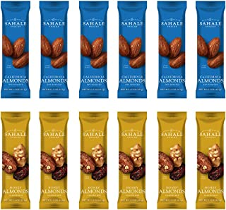 Sahale Snacks Almonds Variety Pack, 1.5 Ounces (Pack of 12)