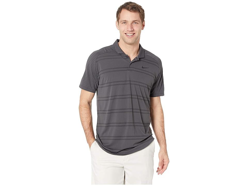Nike Golf Zonal Cooling Polo Stripe Raglan (Anthracite/Black) Men