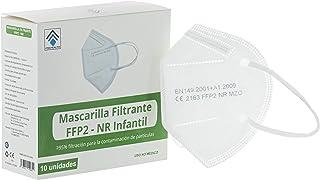 Mascarilla Infantil FFP2/KN95 Homologada Para Niños Protección Máxima Eficacia del 95% Caja 10 Unidades Color Blanco