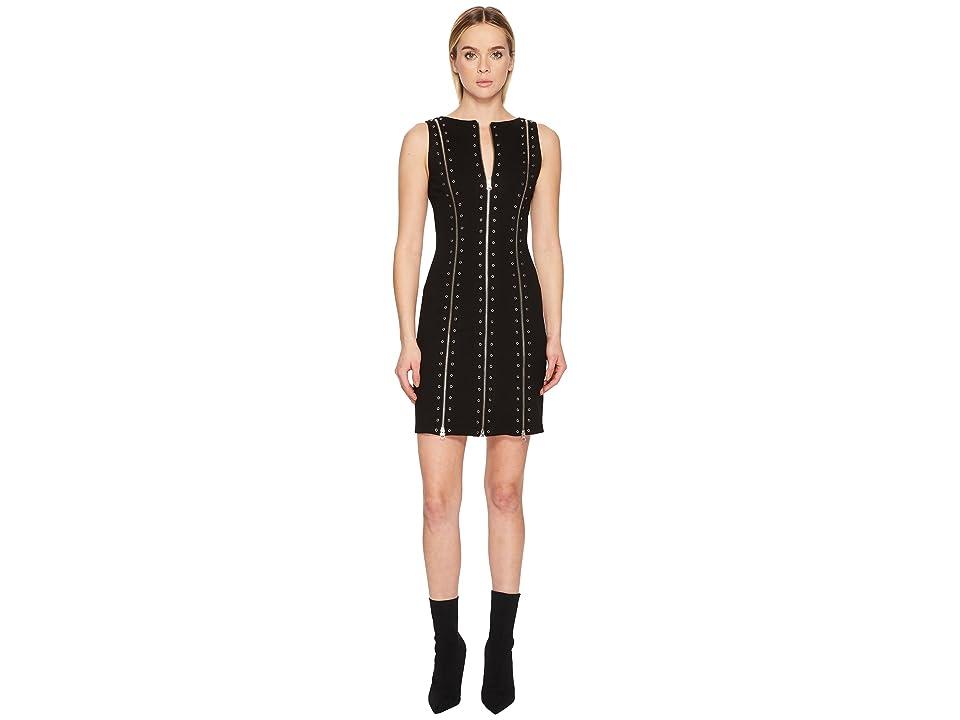McQ Biker Zip Dress (Darkest Black) Women