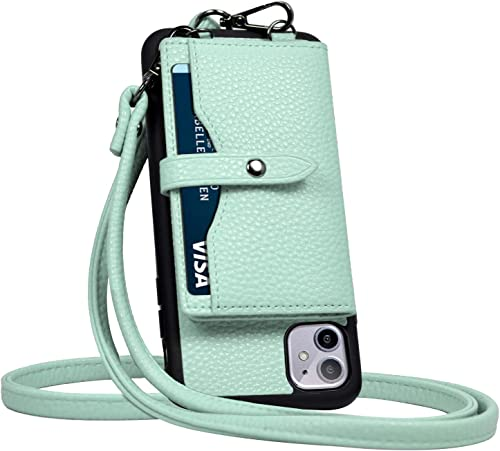 JM JUST MUST iPhone 11 Wallet Case,iPhone 11 Crossbody Case with Credit Card Holder case,iPhone 11 Strap Case,Leather...