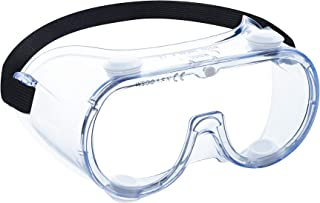 WSGG Medical Goggles, FDA Registered Safety Goggles Fit Over Glasses, Clear Wide-Vision Anti-Fog Eye Protection for Men and Women, Protective Eyewear for Lab, Hospital, Muti-Workplaces(1 pack)