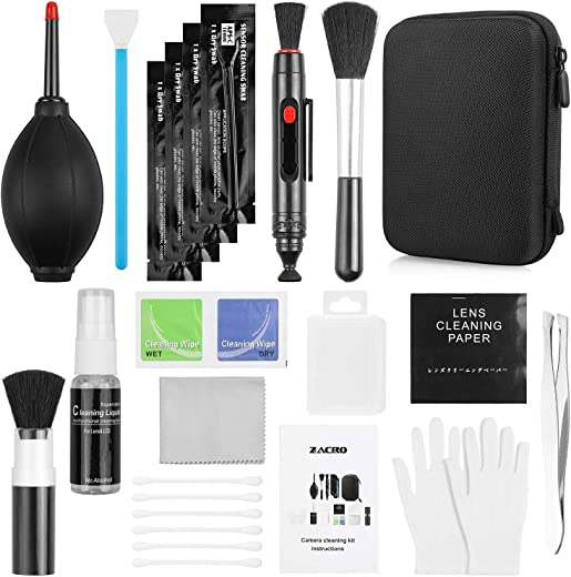 Zacro 14-in-1 Proonal Camera Cleaning Kit (with Carry Case), Including Blowing Bottle/Detergent/Cleaning Pen/Cleaning Brush/Cleaning Swabs/Cleaning Cloth