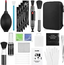 Zacro 49 en 1 Kits Limpieza Cámara Reflex Profesional para Cámaras Réflex y Lente Optica Cámaras Digitales DSLR Rebel EOS,Olympus,Sony Alpha NEX,NX,Carcasa Impermeable Negra