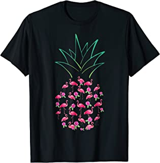 Flamingo Pink Pineapple Funny Unisex Flamingo Lover T Shirts