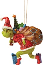 "Enesco Jim Shore The Grinch Tiptoeing Hanging Ornament, 4.45"" H, Multicolor"