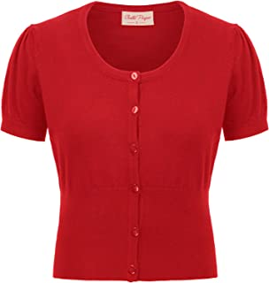 Best red short sleeve cardigan sweater Reviews