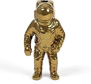 SELETTI Diesel Living with Cosmic Diner Vase Starman Gold Vaso Astronauta