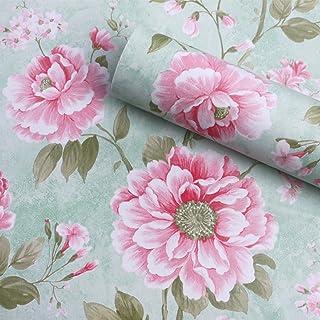 Papel de contacto con diseño de flores vintage para estantes, autoadhesivo, papel pintado para estantes, cajones, muebles, arte y manualidades, 17.7 x 78.7 pulgadas
