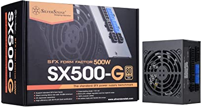 SilverStone Technology SST-SX500-G 500W SFX Fully Modular 80 Plus Gold PSU with Improved 92mm Fan and Japanese Capacitors ...
