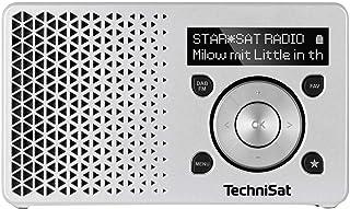 TechniSat DIGITRADIO 1 – tragbares DAB+ Radio mit Akku (DAB, UKW, FM, Lautsprecher, Kopfhörer Anschluss, Favoritenspeicher, OLED Display, klein, 1 Watt RMS) silber