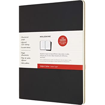 """Moleskine Cahier Journal, Soft Cover, XXL (8.5"""" x 11"""") Subject Cahier, Black/Kraft Brown, 160 Pages (Set of 2)"""