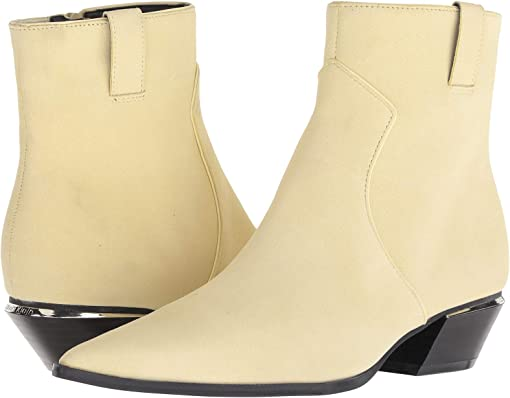 Pastel Yellow Leather Suede