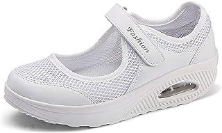 Sandales Femme Mailles Chaussures de Fitness Baskets Mode Compensées Mary Janes pour Femme Espadrilles Chaussures de Sport...