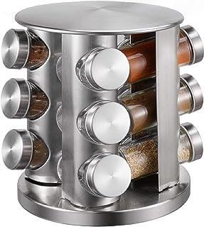 per cucina Portaspezie girevole Blu-5 strati contenitori per condimenti dispenser di condimenti in plastica YANLE porta spezie 4 ripiani e 5 ripiani opzionali