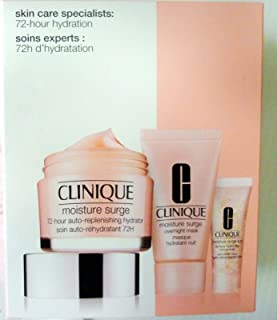 Clinique Skincare Specialists Supercharged Hydration Set: Moisture Surge Concentrate 48ml+ Overnight Mask 30ml+ Eye 96-Hr ...