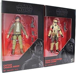 Star Wars - The Black Series 2-pack 9,5 cm actiefiguren voor de film, voor jongens, meisjes en fans (Cassian und Stormtrop...