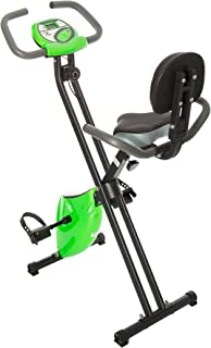 Fit Life Folding Magnetic Resistance Upright Exercise Bike with Calorie Counter