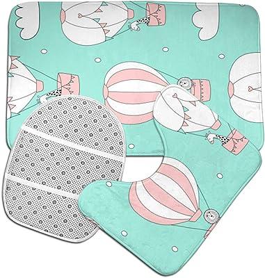 EGOMARKET Cartone Animato Bambini Aspirazione Antiscivolo PVC Tappetino da Bagno Stuoia di Bagno di Sicurezza Cuscinetto Antiscivolo per Vasca da 15 x 27 Pollici