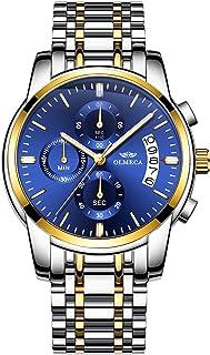 OLMECA Men's Watches Sport Army Fashion Military Wristwatches for Men Waterproof Chronograph Calendar Date Quartz Watches ...
