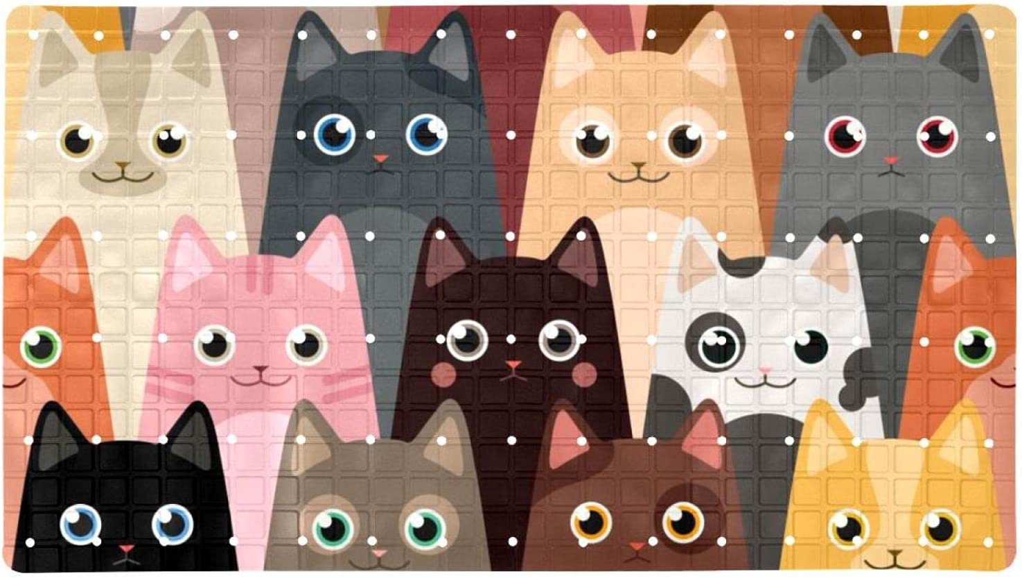 Bath Tub Shower Cheap Cheap mail order specialty store bargain Mat 15.7x27.9 inches Ant Suction with Cats Print